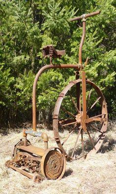 Tricycle, Farm Images, Old Farm Equipment, Farm Tools, Scrap Metal Art, Old Tractors, Rusty Metal, Old Tools, Junk Art