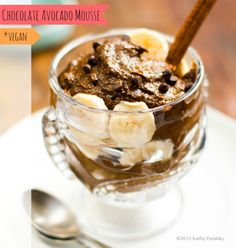 Chocolate Avocado Mousse Recipe. Two Ingredients. Easy Bliss.