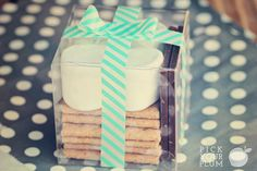 S'mores gift idea for the clear cute boxes I just bought at Pick Your Plum