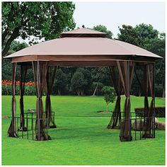 $299.99  Wilson & Fisher® 11' x 13' Catalina Octagon Gazebo at Big Lots. Our new gazebo we got on sale!!!! Super stoked and can't wait to put it together! Ready for some summer, backyard, pool fun!! Love my family and it's gonna be a fantastic summer!!!!