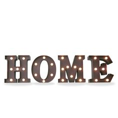 Iluminación metálica decorativa letras HOME (Decoración metálica iluminada) - Sillas de diseño, mesas de diseño, muebles de diseño, Modern Classics, Contemporary Designs...