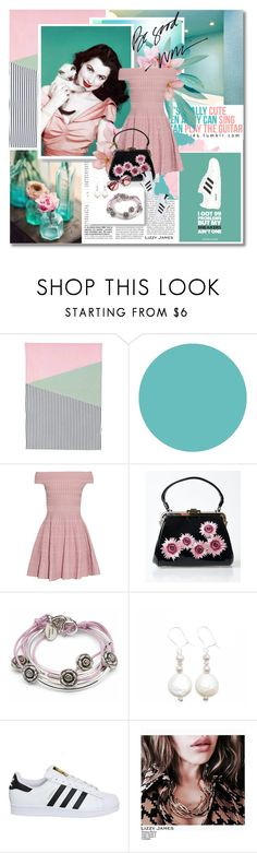 """""""I'm an old soul"""" by undici ❤ liked on Polyvore featuring Therapy, WallPops, Alexander McQueen, Voodoo Vixen, Lizzy James, adidas, jewelry, bracelet, earrings and accessories"""