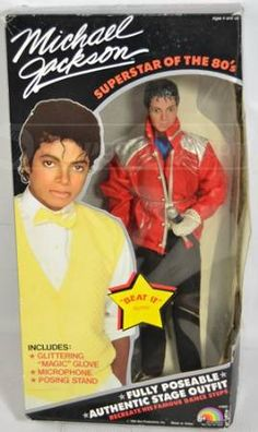michael jackson doll....I had this and sold in a garage sale for $10....dumb dumb dumb!