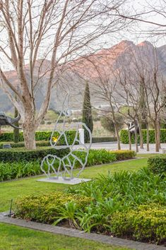 Sitting in the magnificent Franschhoek Valley in South Africa's Western Cape, her lush vines spread across with gentle vistas over the valley floor, with the rugged mountains beyond. This is heartland South African wine country at its very finest. South African Wine, Cape Dutch, Art Sculptures, Luxury Accommodation, Client, Wine Country, Provence, Acre, Lush