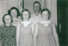 Roger & Grace (Ketchum) Downes and family about 1957/1958.