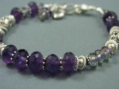 GENUINE Amethyst Rainbow Mystic Crystal by CarolDowningDesigns, $74.95