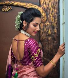 Latest Blouse Designs For Sarees – Check Out The Trending. Latest Blouse Designs For Sarees – Check Out The Trending. Pattu Saree Blouse Designs, Fancy Blouse Designs, Bridal Blouse Designs, Lehenga Blouse, Dress Designs, Pattern Blouses For Sarees, Zardosi Work Blouse, Salwar Dress, Salwar Kameez