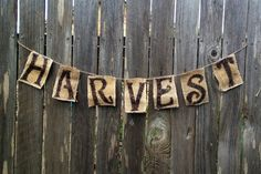 Fall Harvest Decorative Banner by ArkansasCharm on Etsy, $9.00