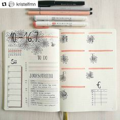 "120 mentions J'aime, 2 commentaires - Bullet Journal features (@bujobeauties) sur Instagram : ""By @kristelfmn Tag your photos with #bujobeauty for a chance to be featured ・・・ Next week…"""