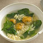 Chicken Meatball–and–Orzo Soup Recipe | MyRecipes.com