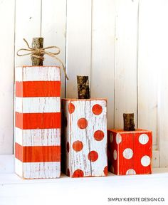 4x4 Wood Pumpkins |