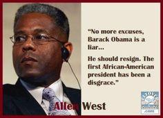Allen West ~ The Shame of Obama