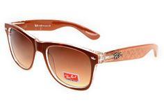 Ray Ban Wayfarer Logo Prints RBZX300 Brown Sunglasses BGI