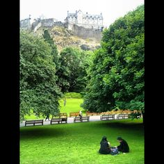 classic Edinburgh view to the castle