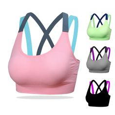 d3c9e91d5c 2017 New Arrival Women Yoga Bra Breathable Underwear Wirefree Push Up Padded  Shockproof Sport Tops Vest for Running Fitness Gym -in Sports Bras from  Sports ...