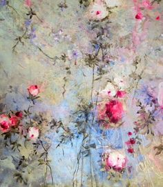 Laurence Amelie, Arte Pop, Abstract Flowers, Pretty Art, Botanical Art, Beautiful Paintings, Painting & Drawing, Bunt, Flower Art