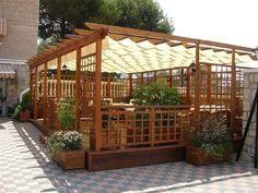 Pergola For Small Backyard Gazebo Pergola, Pergola On The Roof, Garage Pergola, Pergola Curtains, Small Pergola, Covered Pergola, Pergola Shade, Pergola Plans, Pergola Kits