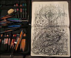 Astonishing Sketchbook Illustration Drawings by Irina Vinnik