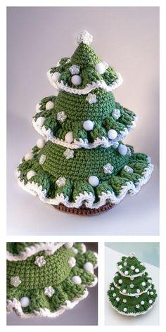 Crochet Christmas Stocking Pattern, Crochet Christmas Trees, Holiday Crochet, Crochet Tree, Crochet Cross, Crochet Amigurumi Free Patterns, Yarn Tail, Crochet Projects, Creations