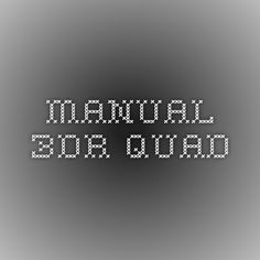 Manual 3DR QUAD
