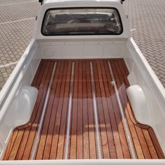 Trunk tunning for VW Caddy completed 👌 . Vw Caddy Mk1, Vw Mk1, Volkswagen Caddy, Vw Rabbit Pickup, Datsun Car, Vw Group, Wooden Trunks, Wood Beds, Truck Bed