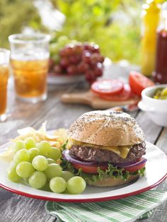 Skip the chips and enjoy fresh, healthy Grapes from California at your next barbecue!  Pin for more delicious side dishes featuring California grapes.