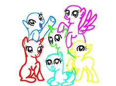 my little  pony base | my little pony group base by alicornpony1234 fan art anthro