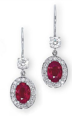 RUBY AND DIAMOND EARRINGS, BY HARRY WINSTON