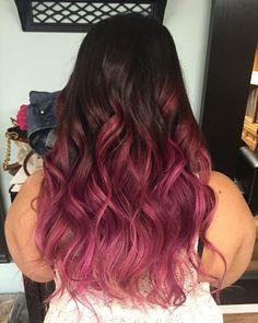 Pink ombré Davines color
