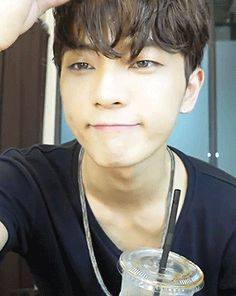 This is a gif of Geon Lee from the Kpop boy band MADTOWN.