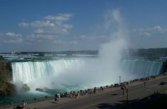 Niagara Falls, just love looking at the water and listen to the roar.
