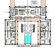 1000 ideas about house plans with pool on pinterest u for U shaped house plans with pool in middle