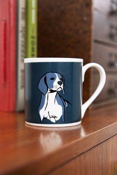 ©TANNEN_BROWN - Fine Bone China, Hand Printed Mug - Beagle