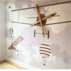 For the future pilots! I know, I know....wallpaper again. What can I do?? Awesome idea from @littlehandswallpaper combining features and the wall paper. #wallpaper #walldecor #inspiration #interiordesign #instadesign #instadecor #forkids #babyroom #babyroomdecor #kids #kidsroom #followme #like4like #likeforlike #nursery #pilot #littlepilots