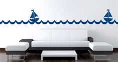 Sails and Waves wall borders (set of 8 sticks)