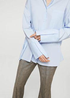 Объемная рубашка из хлопка - Женская | MANGO МАНГО Россия (Российская Федерация)