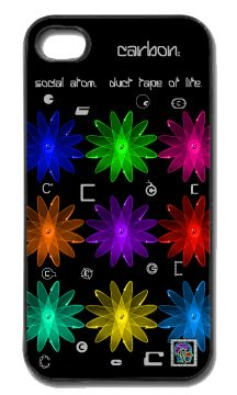 """""""Carbon:  social atom.""""(c) on an iPhone cover.  (c) 2013 Textiles for Thinkers, LLC.  All Rights Reserved."""