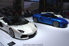 Mondial de l'automobile Paris 2014 - Stand Lamborghini Aventador LP 700-4 & Asterion LPI 910