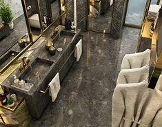 Antolini Black Bathroom on Behance – Antolini Schwarzes Badezimmer in Ordnung – Royal Bathroom, Small Bathroom, Bathroom Ideas, Bathroom Black, Basement Bathroom, Bathroom Remodeling, Master Bathroom, Remodeling Ideas, Shower Ideas