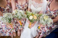 Daisy Gypsophila Bouquets Bride Bridal Roses Peach Floral Mustard Boathouse Wedding http://www.katherineashdown.co.uk/