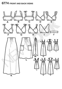 potential dress or bridesmaids dress pattern