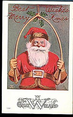 The Great Wizard Santa Claus 1908 Postcard