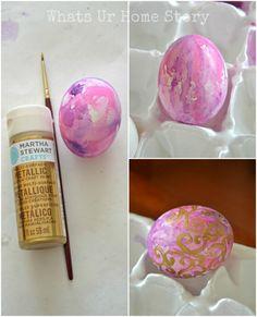 How to make watercolor Easter eggs tutorial www.whatsurhomestory.com