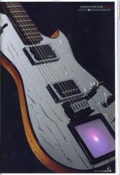 Kaoss Midi Expression Pad equipped guitar.