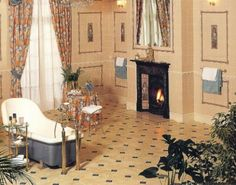 edwardian bathroom | Edwardian Tiles - Art Nouveau Nocturnal Slumber (Repos de la Nuit 1899 ...