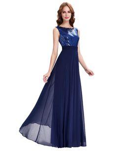 Long Navy Blue Wedding Party Dress - My Wedding Ideas