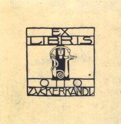 Exlibris for Otto Zuckerkandl, 1906 Koloman Moser Detail