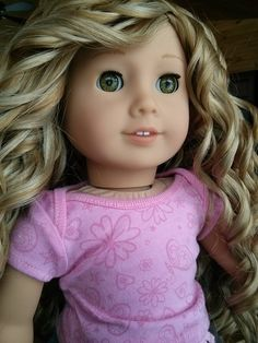 Custom american girl doll with eye swap and rewig
