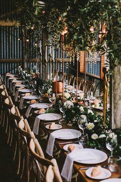 Ruffled - photo by Lara Hotz Photography http://ruffledblog.com/botanical-australian-barn-wedding | Ruffled