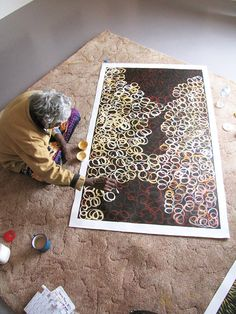 "Australian Aboriginal Art Painting by GLORIA PETYARRE ""BUSH MEDICINE LEAVES"" 152 x 92 cm. #aboriginalart #art #aboriginalpainting #australianart"